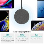 Tweed Fast Wireless Charger - Round