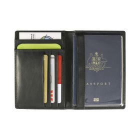 Mako RFID Leather Passport Wallet